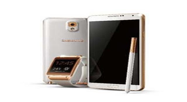 三星note3 白色金边 三星Note3金色豪华版+Galaxy Gear智能手表(白色金边)+原装皮套夺目金色礼包 5.7英寸屏 双四核 1300万像素后置摄像头 一样的钱买三样~加一元更得翻倍流量哦!