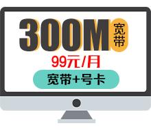 300兆宽带(融合)-99元/月