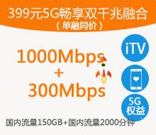 399元5G畅享双千兆融合(单融同价)