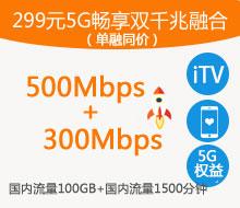 299元5G畅享融合双千兆(单融同价)