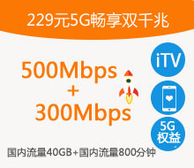 229元5G畅享双千兆融合